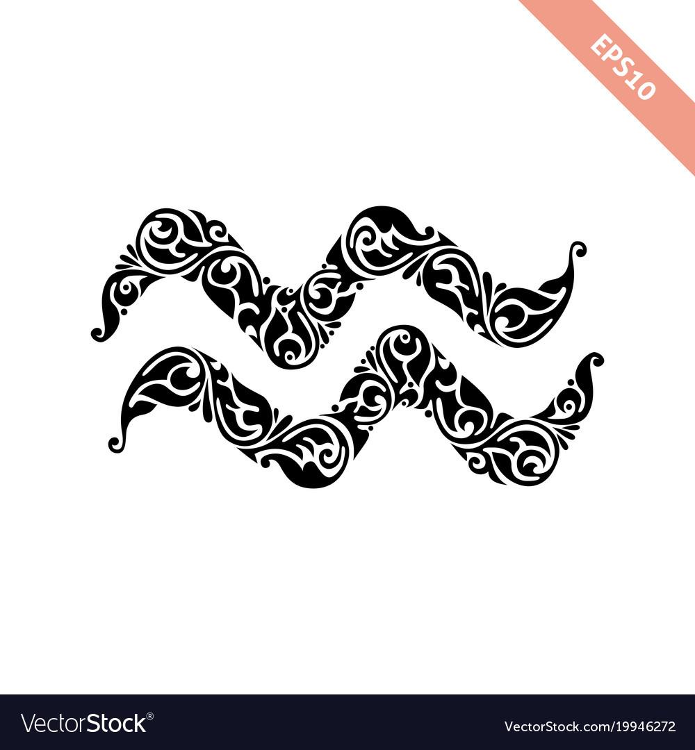 Horoscope Symbol Aquarius Royalty Free Vector Image