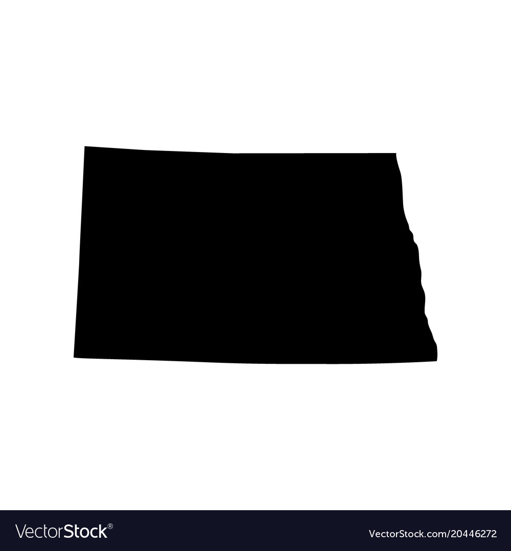 Map of the us state of north dakota Royalty Free Vector