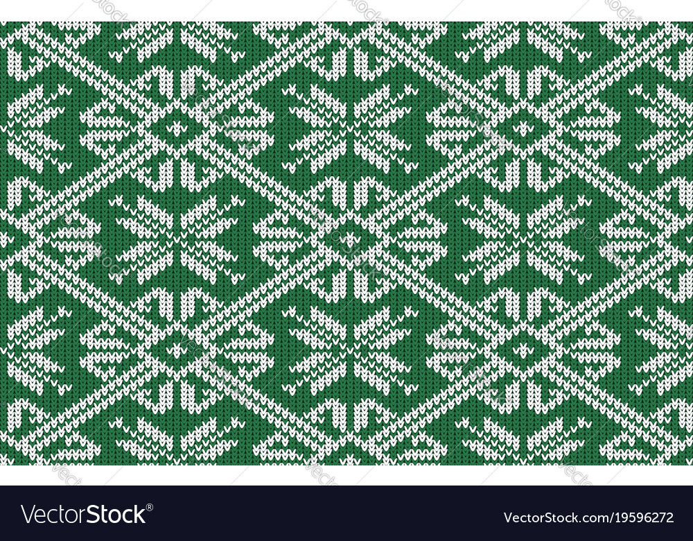 Norwegian knitted pattern with snowflakes