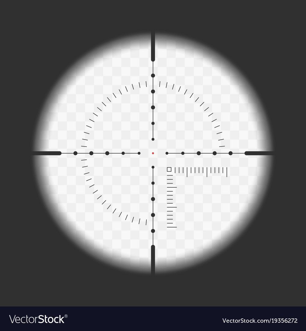 Realistic sniper sight vector image