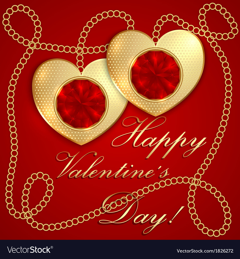 Saint Valentine Greeting Card Royalty Free Vector Image