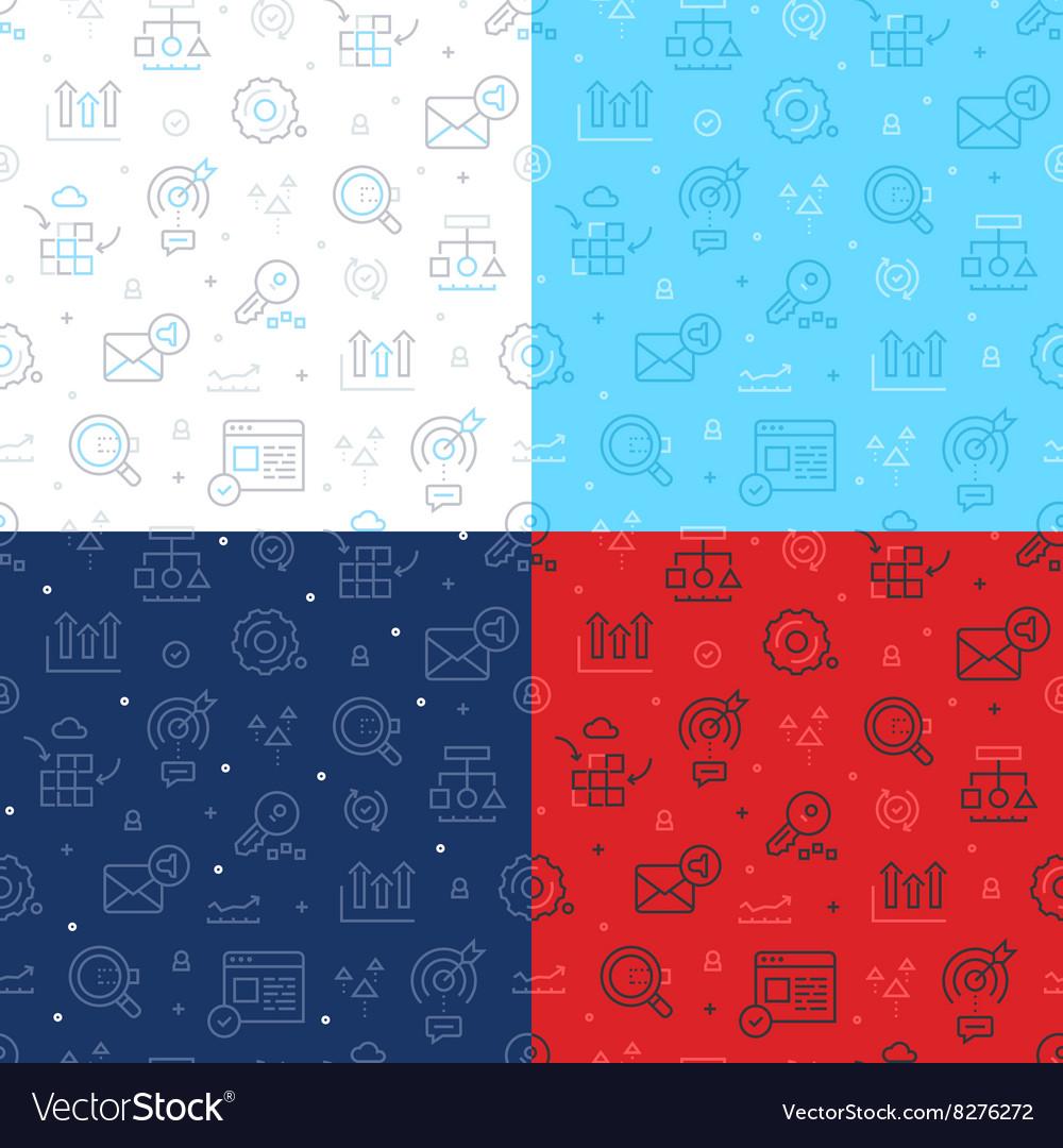 SEO Technology Seamless Pattern vector image