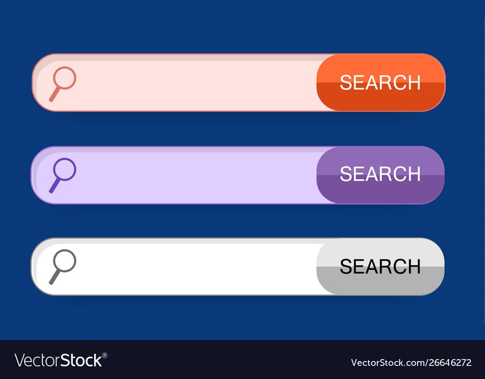 Set modern trendy buttons flat style