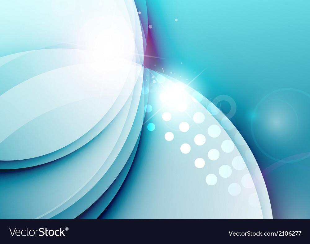 Elegant color waves with light flares