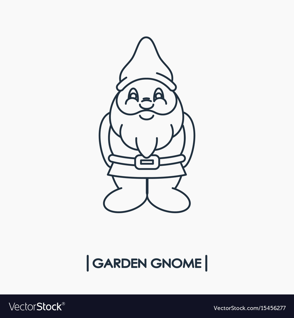 Gnome Outline Vector Images 53