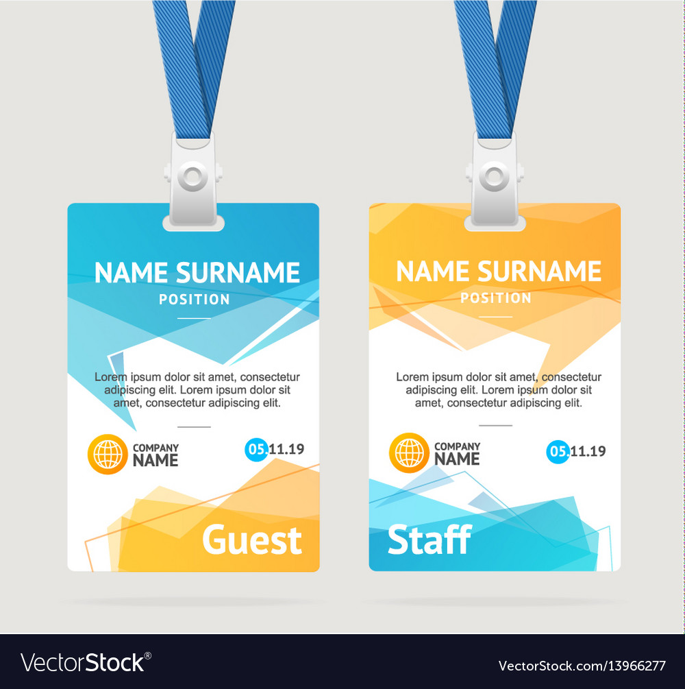 Id Card Template Plastic Badge