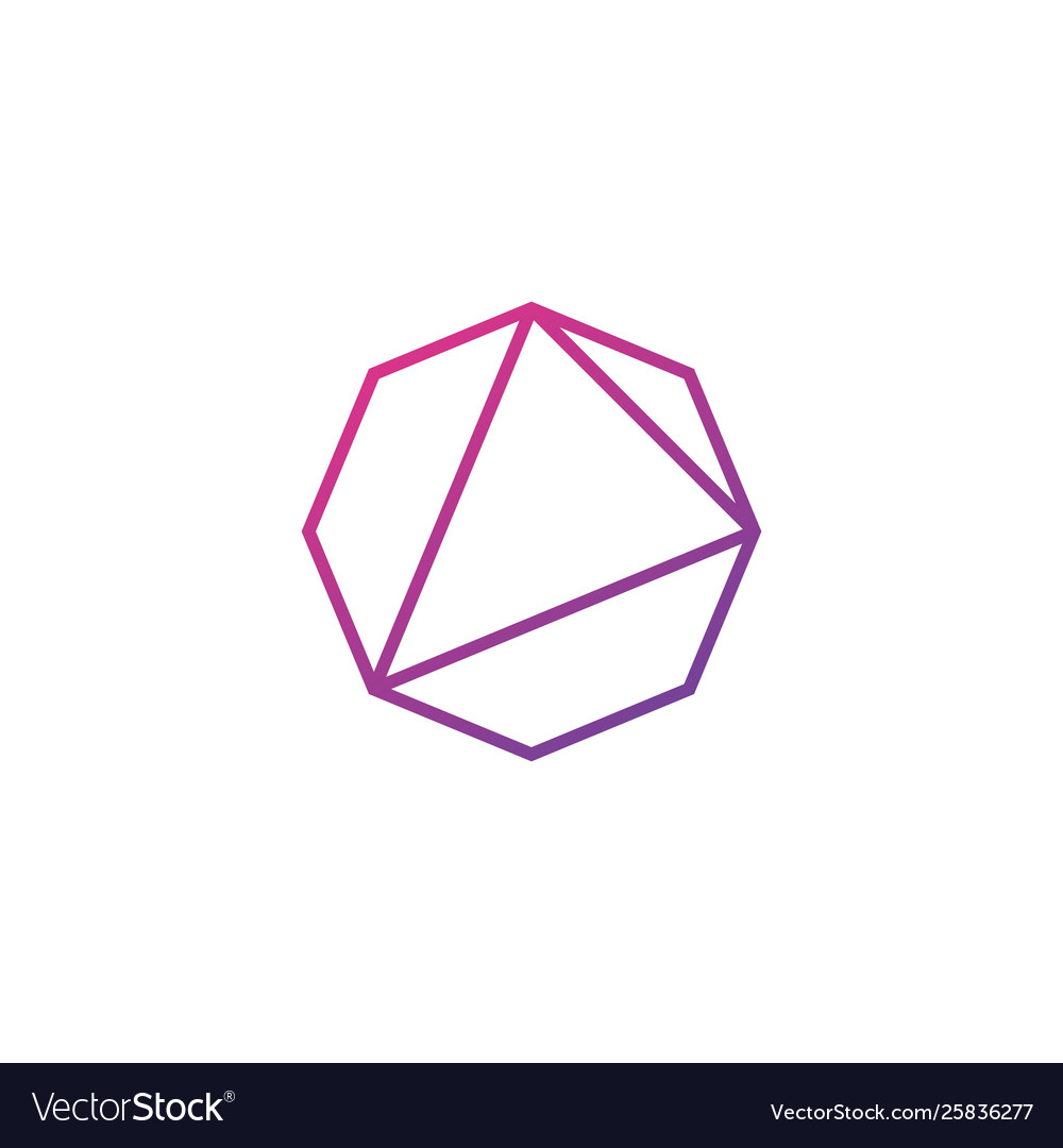 Octagon abstract logo icon