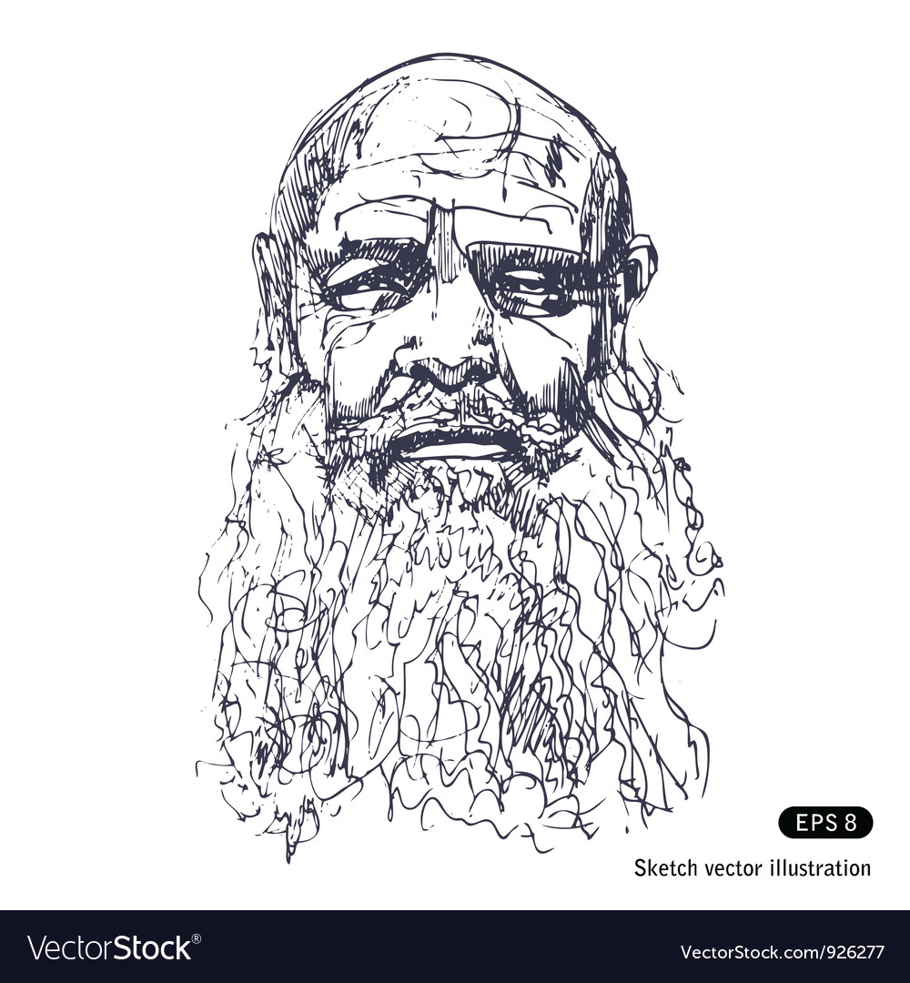 Old man with a beard Royalty Free Vector ImageOld Man Face Beard