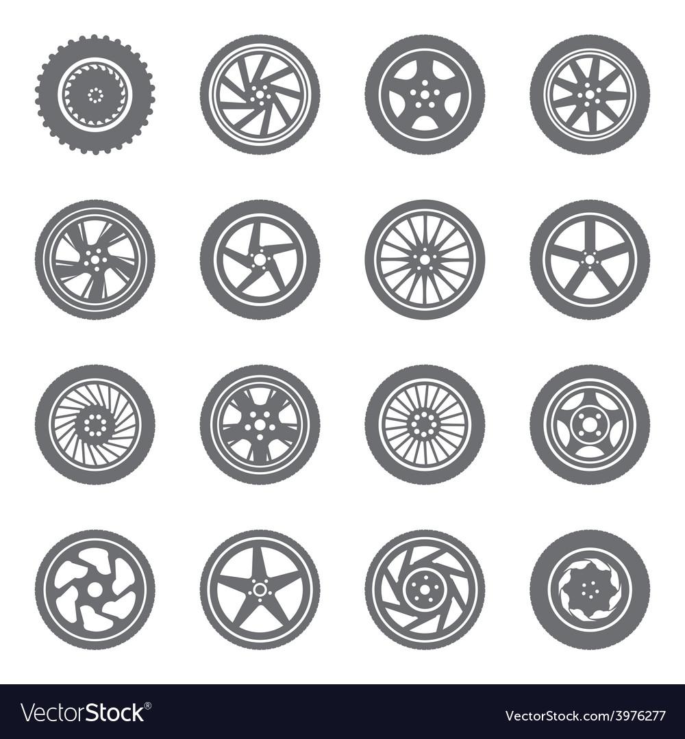 Set of wheel rims