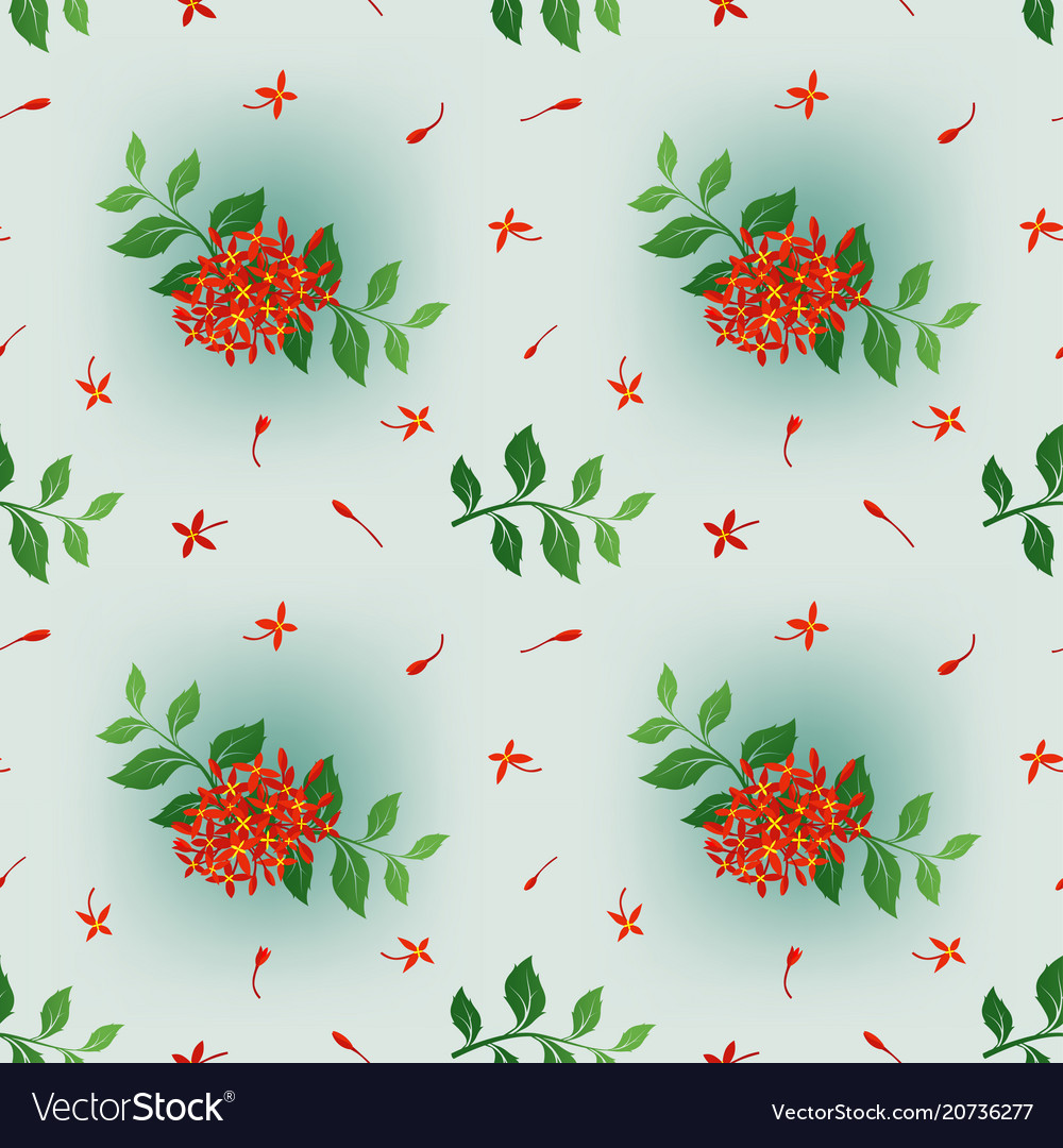 Spring colorful floral seamless pattern vector image