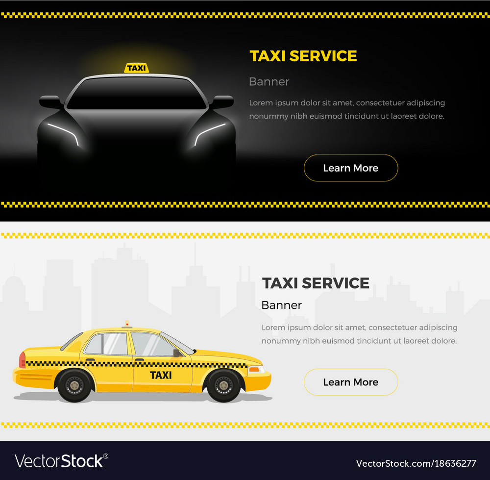 Taxi service web banners
