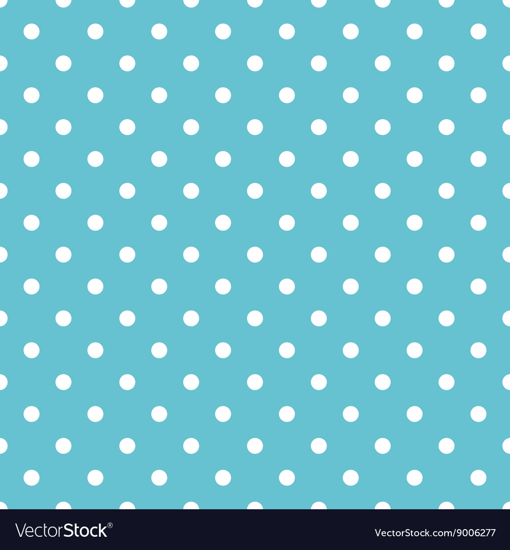 Tile pastel pattern with white polka dots on mint Vector Image