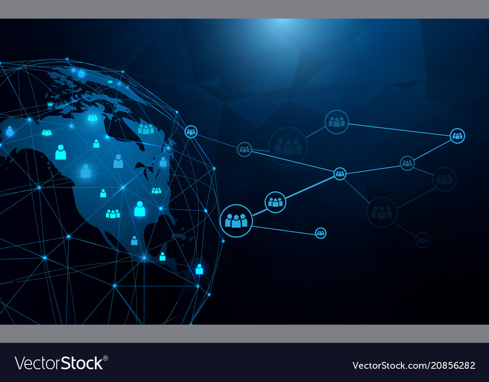 Abstract global and network futuristic technology