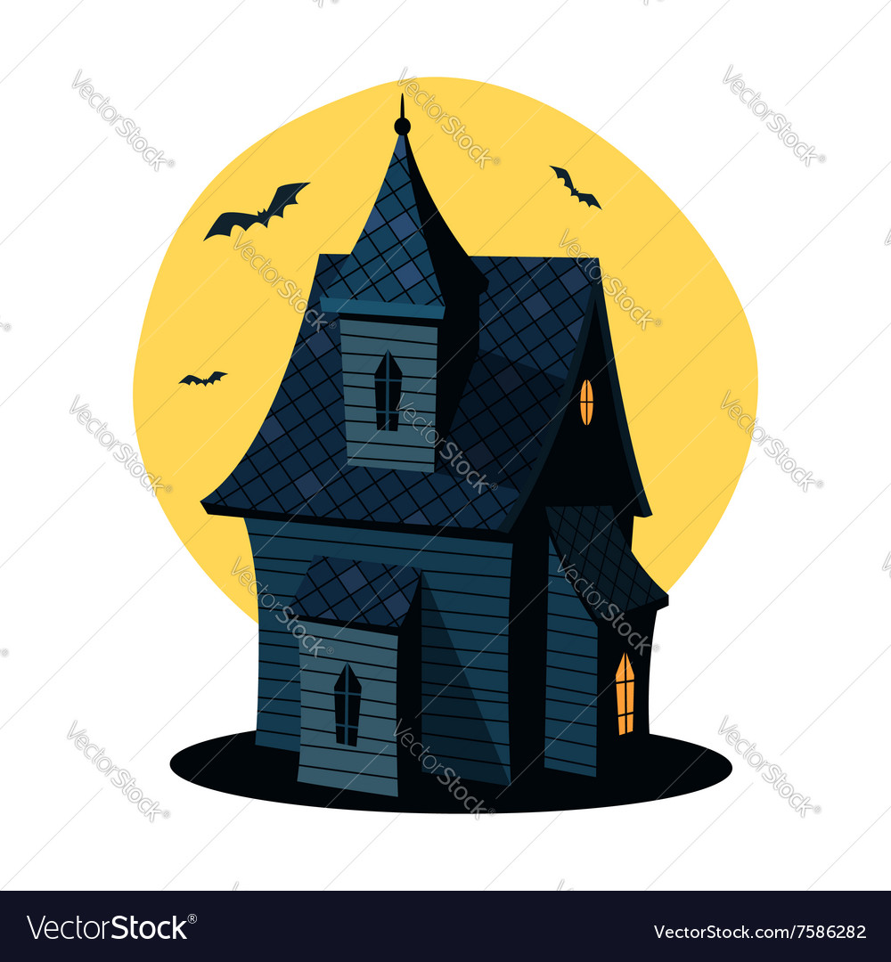 Cartoon haunted house royalty free vector image - Cartoon haunted house pics ...