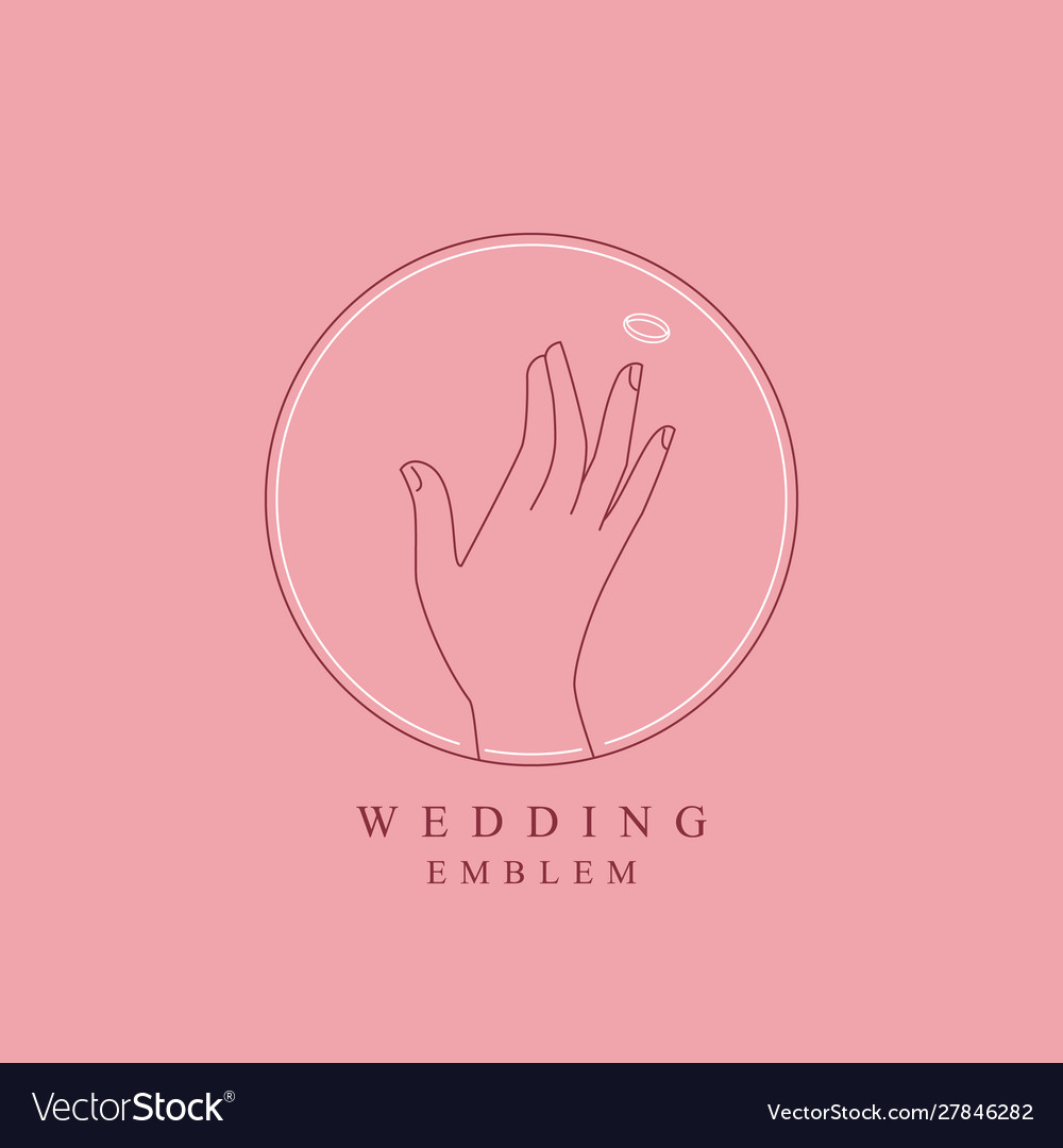 hand with ring logo design template royalty free vector vectorstock