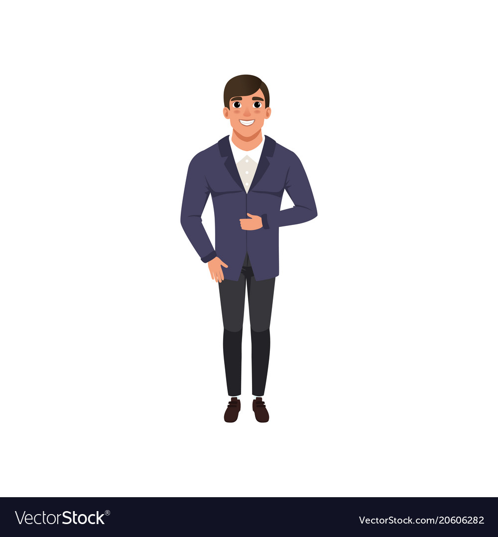 Handsome young man in fashion clothes vector image