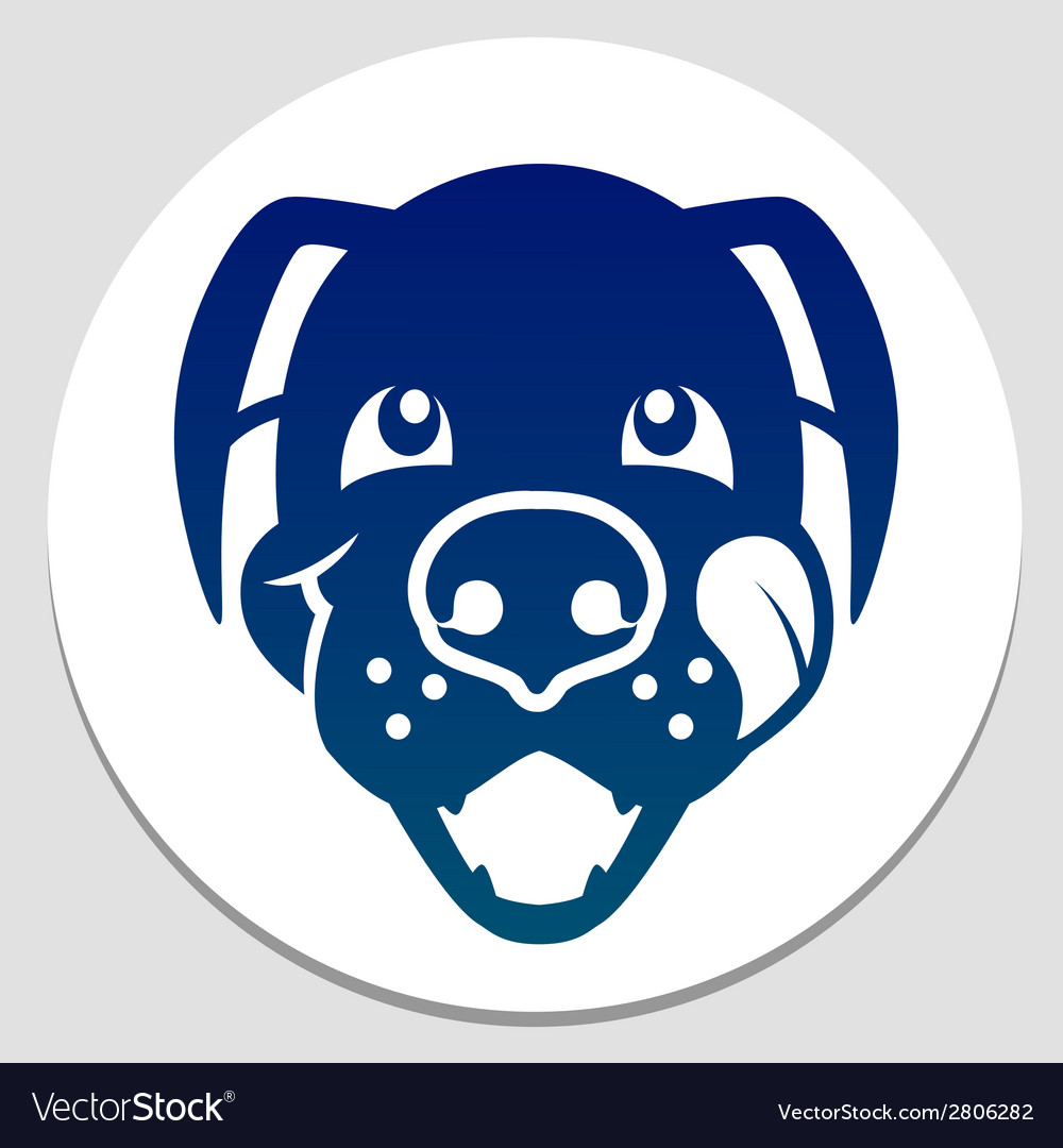 Happy fed dog symbol
