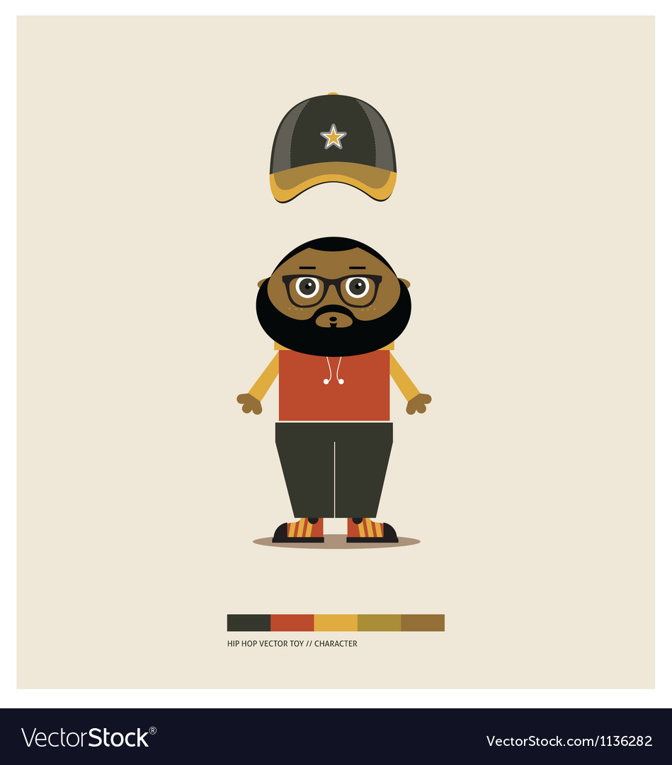 HIP HOP TOY vector image