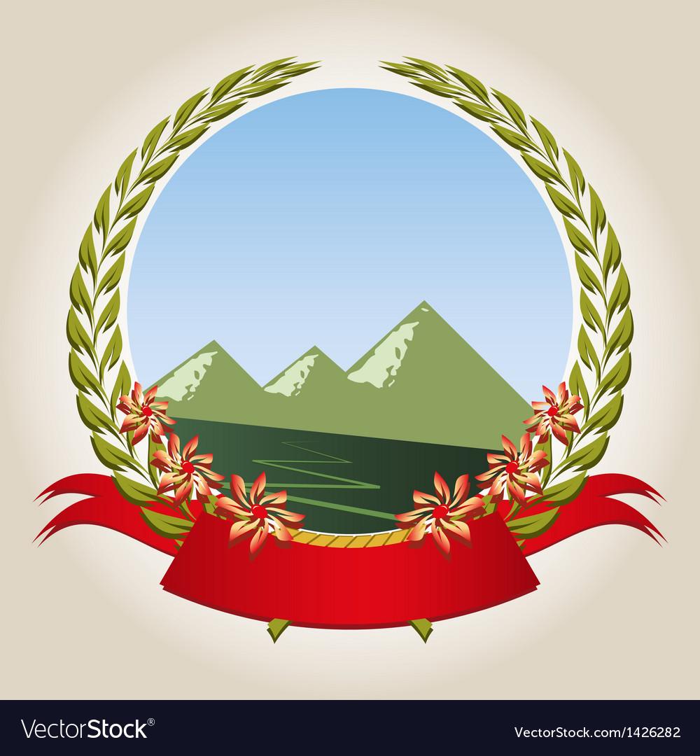 Mountain emblem vector image