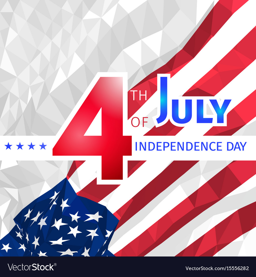 Polygonal usa flag 4th of july independence day