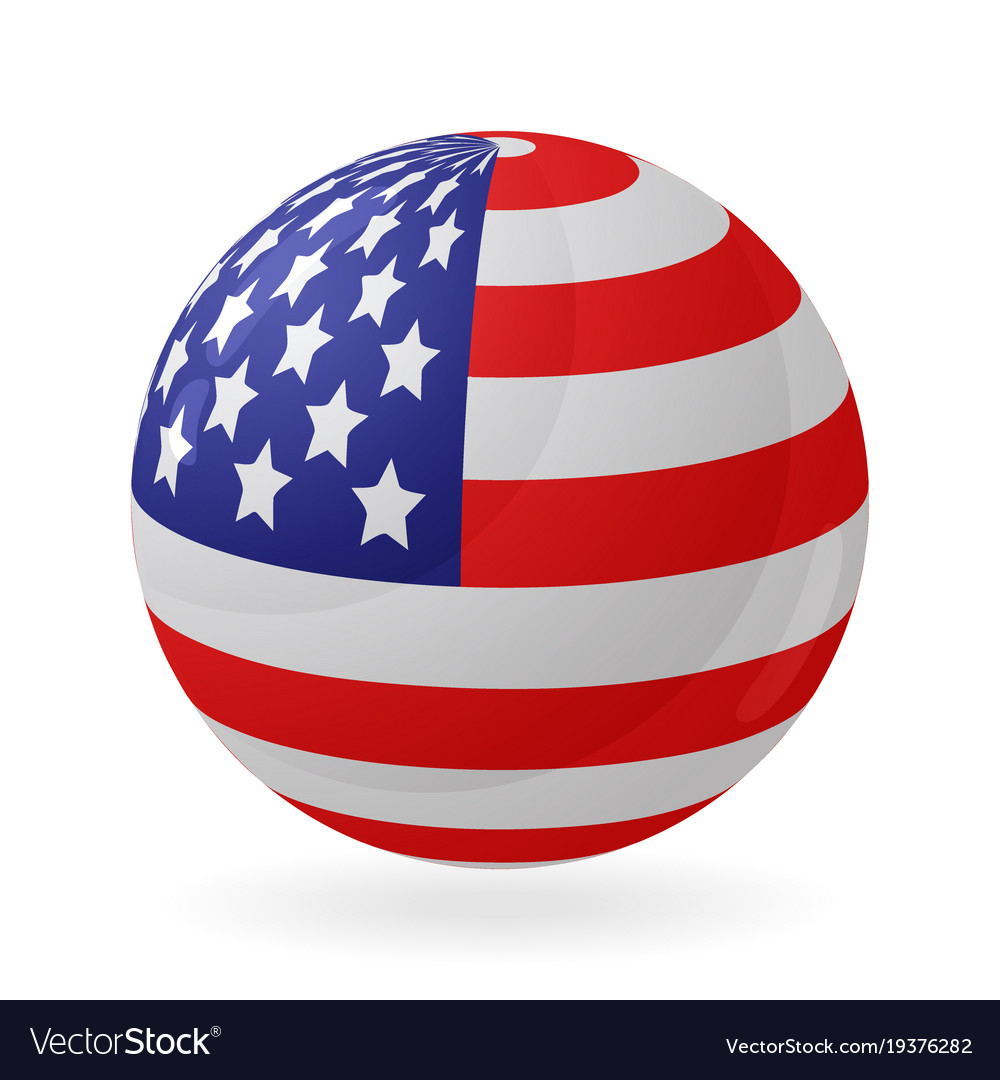 80036d1cde6c Us flag in the shape of a ball icon isolated on Vector Image