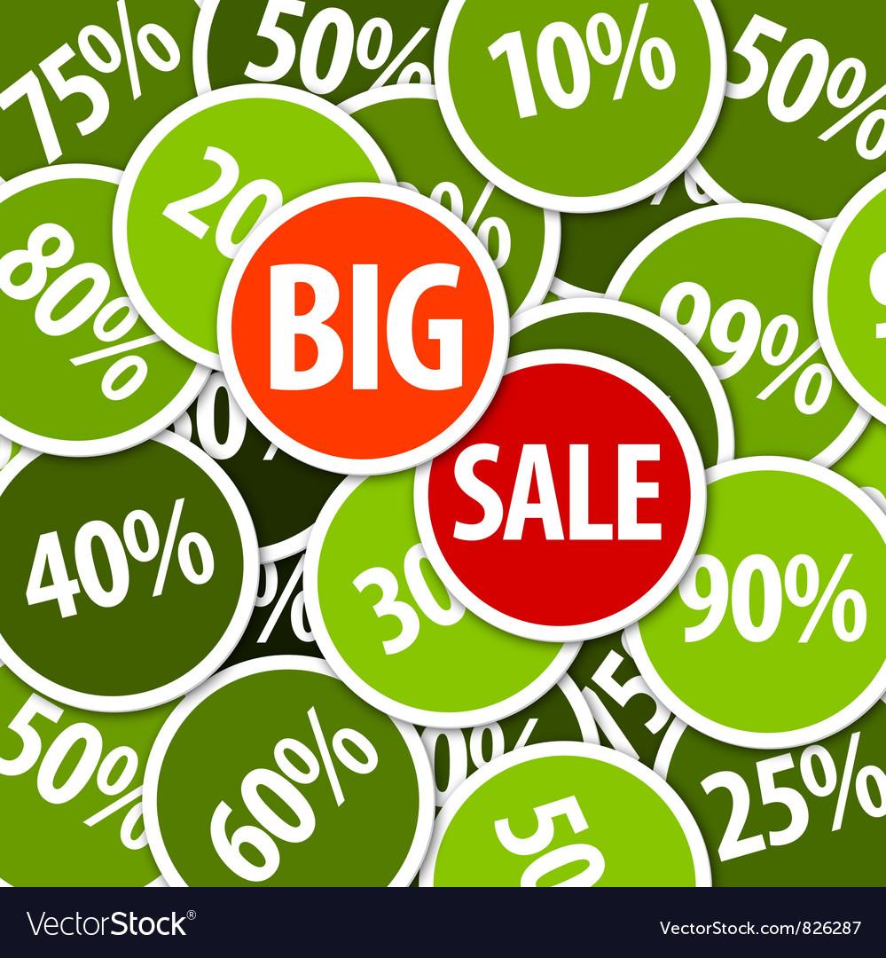 Big sale labels background