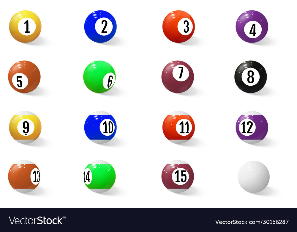 Billiard pool or snooker balls with numbers