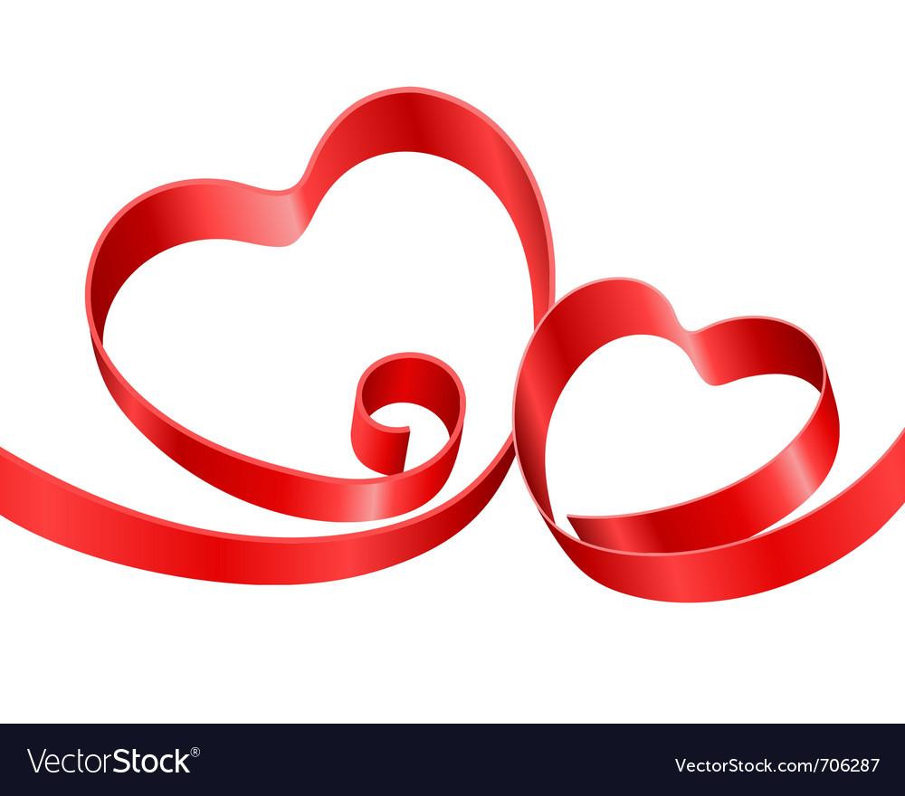 Double Hearts Royalty Free Vector Image Vectorstock
