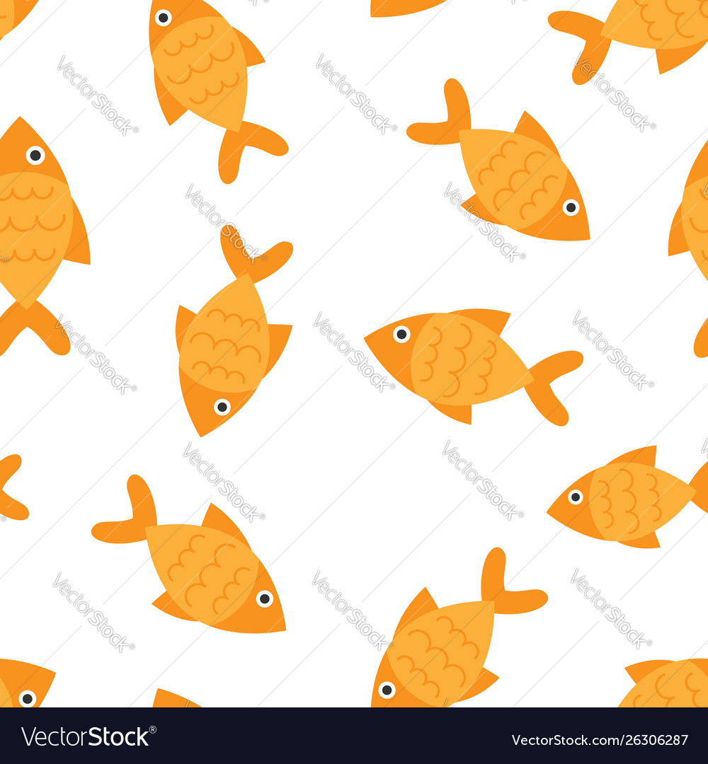 Fish sign icon seamless pattern background