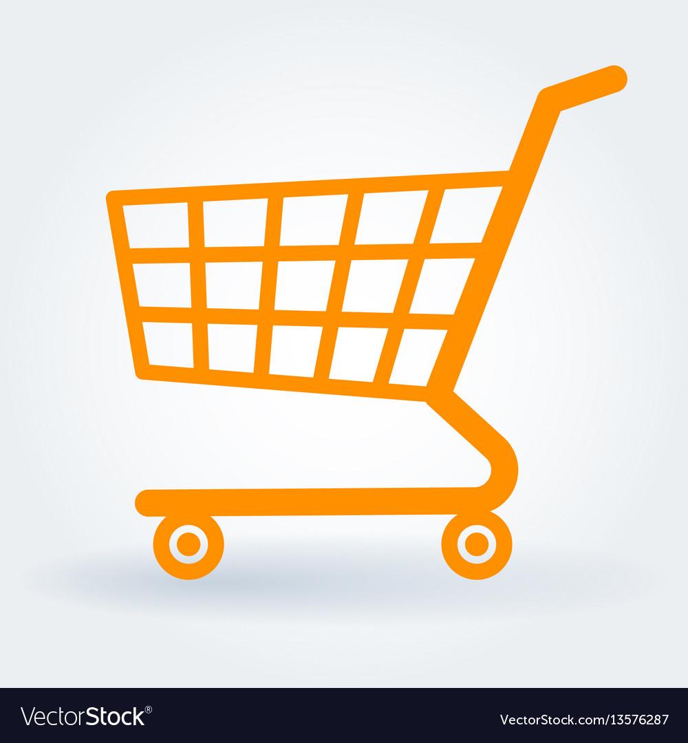 Flat design shopping cart
