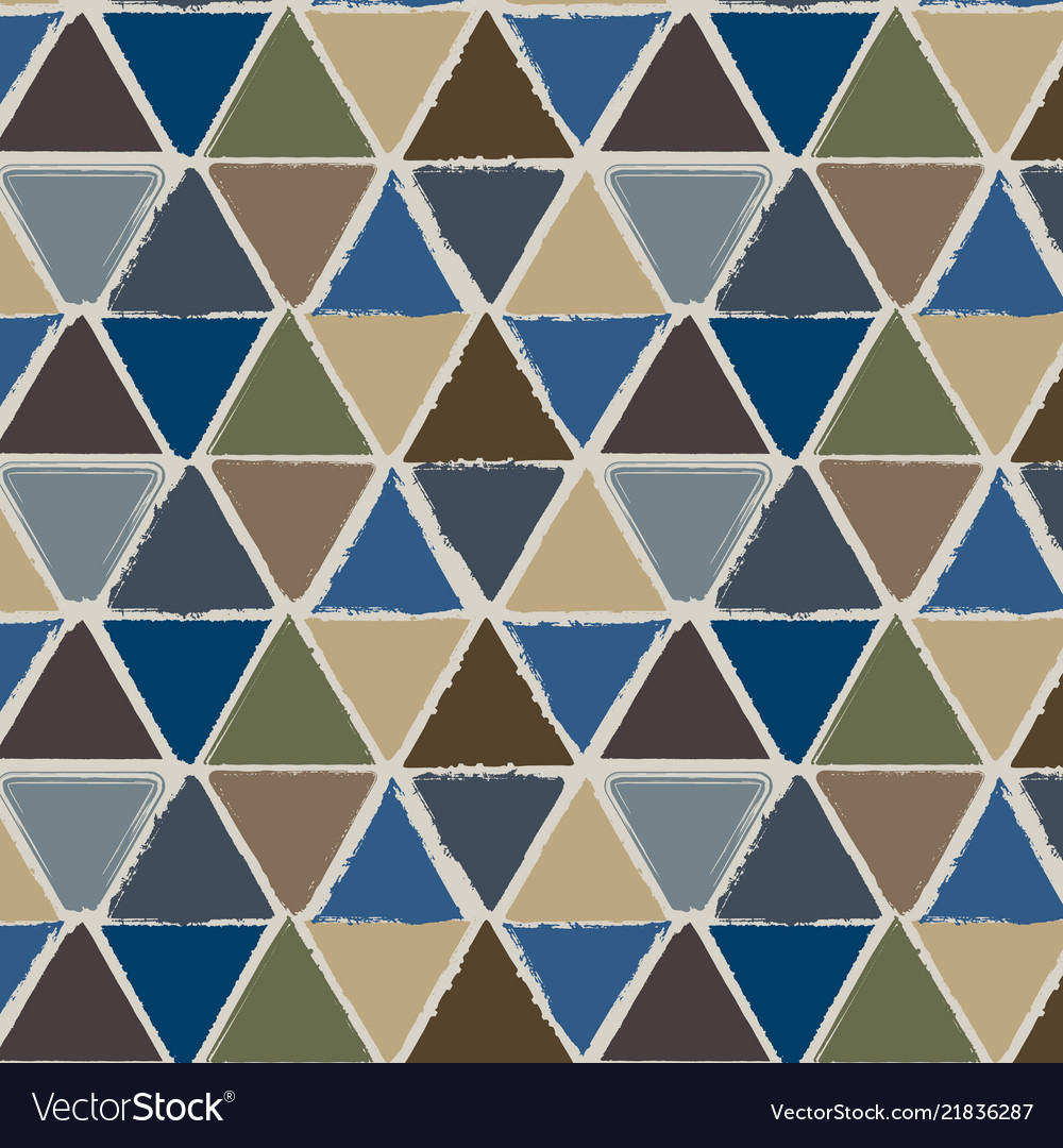 Grunge triangles seamless