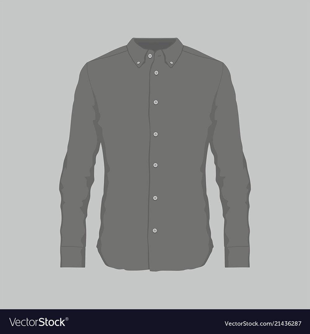 Mens Black Dress Shirt Royalty Free Vector Image