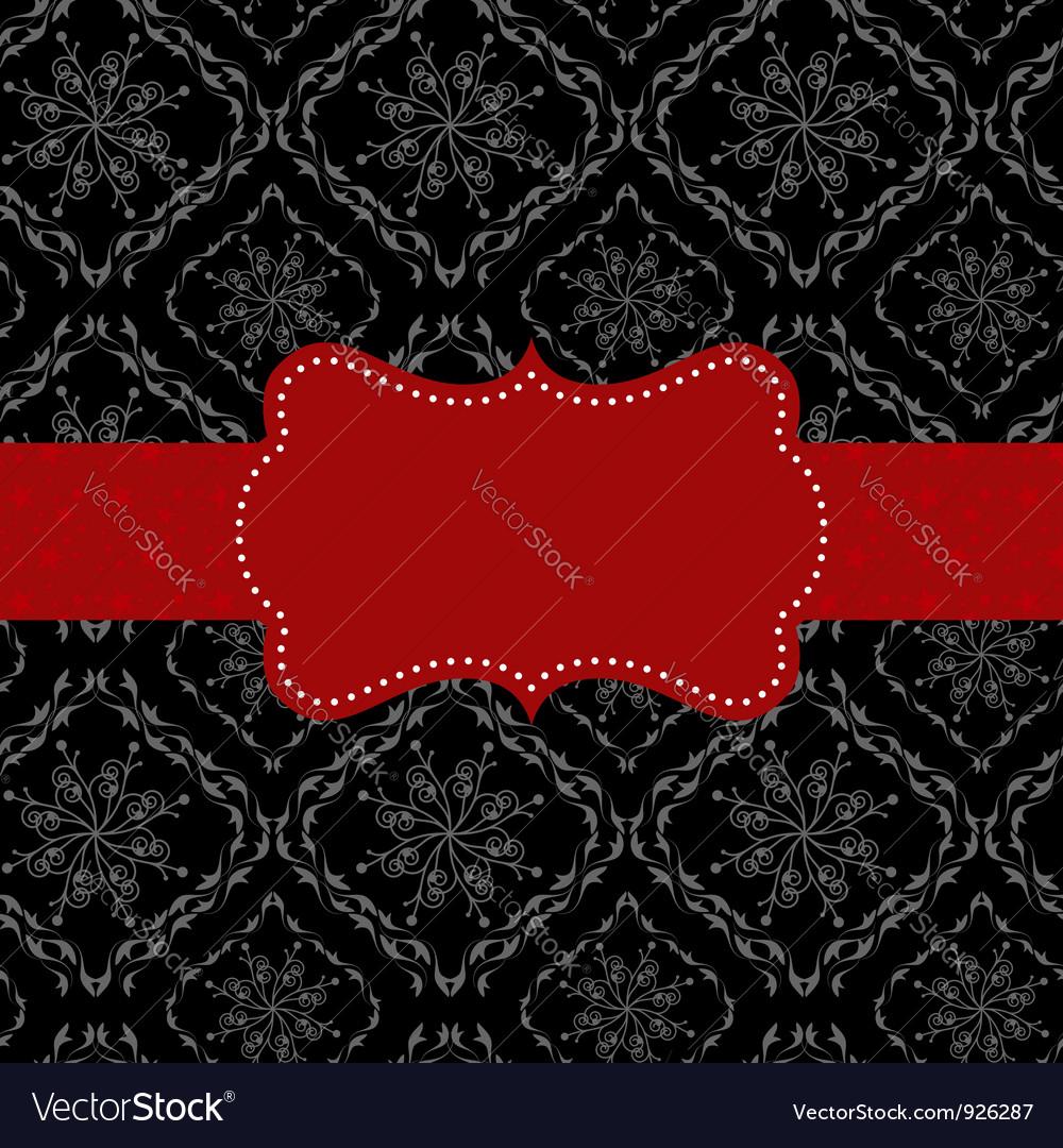 Ornate frame on seamless pattern background