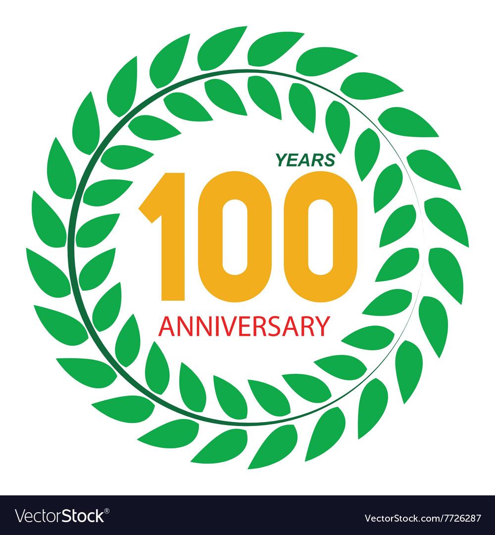 Template Logo 100 Anniversary in Laurel Wreath