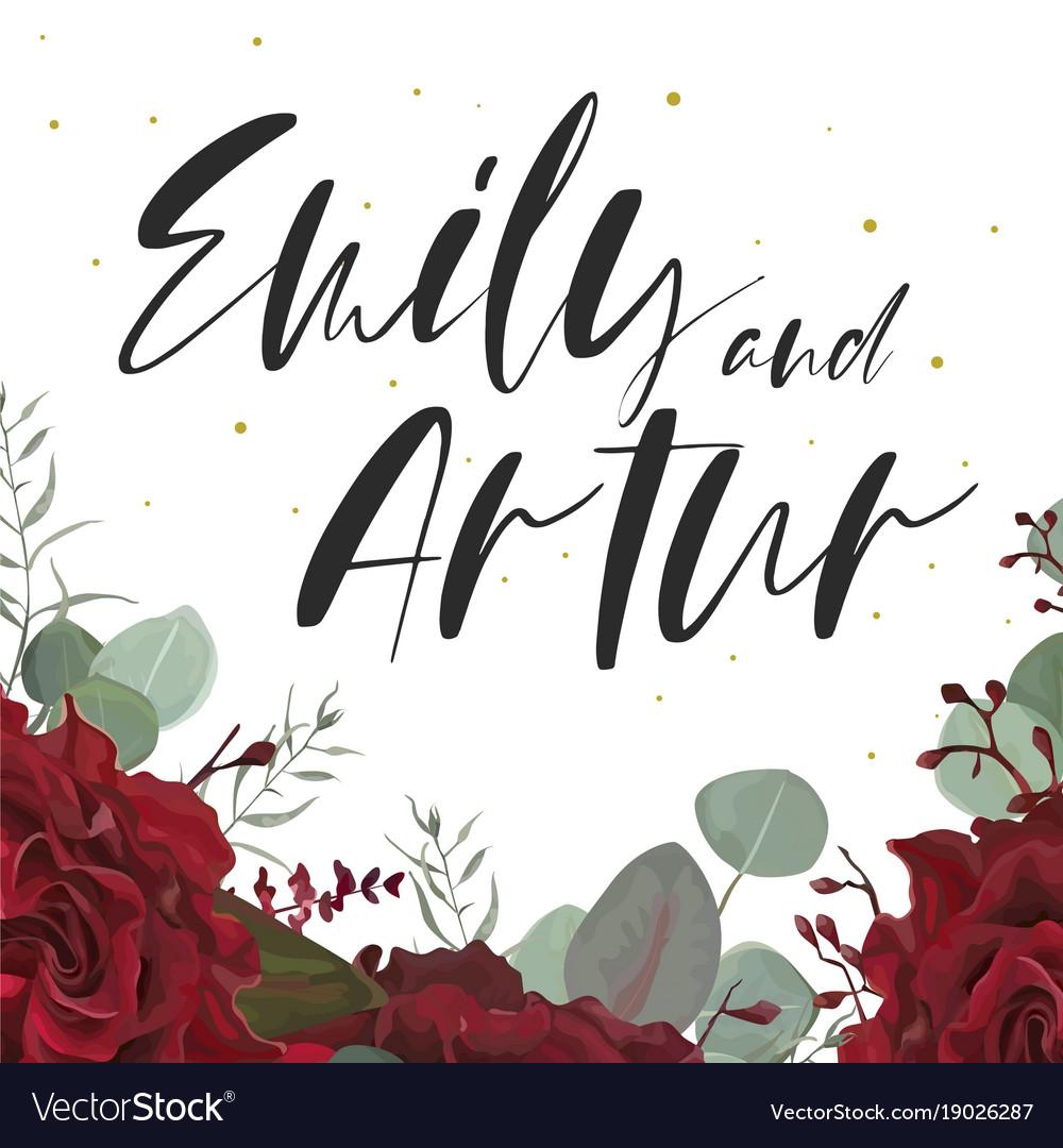 Wedding elegant invite save date floral card