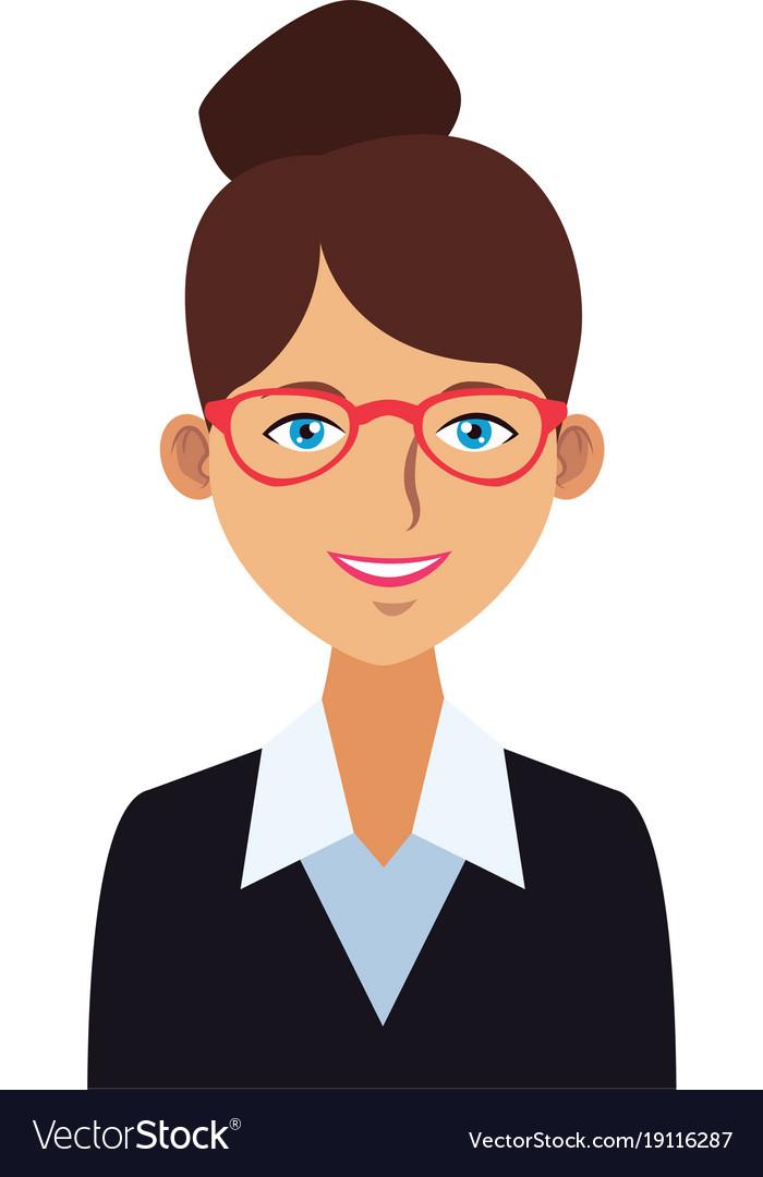 Young Woman Profile Cartoon Royalty Free Vector Image