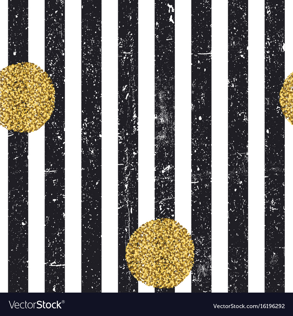 Black textured lines and chaotic golden dots