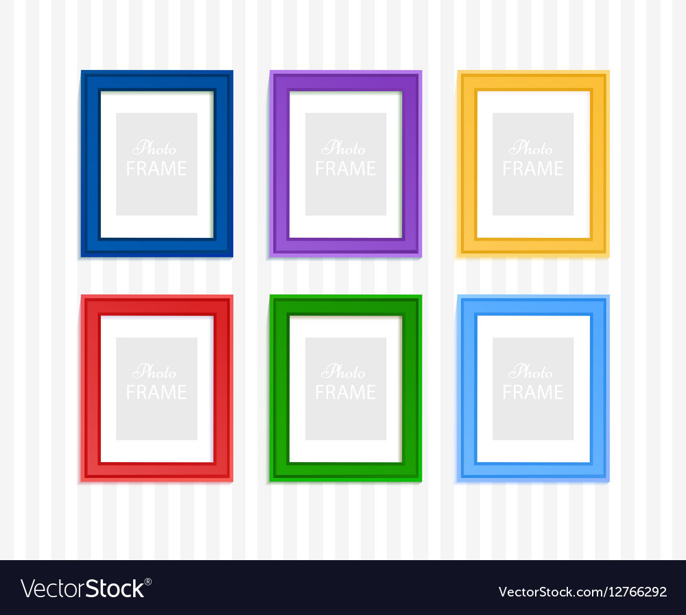 Colored photo frames Royalty Free Vector Image