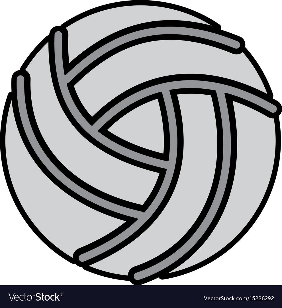 Grey volley ball cartoon