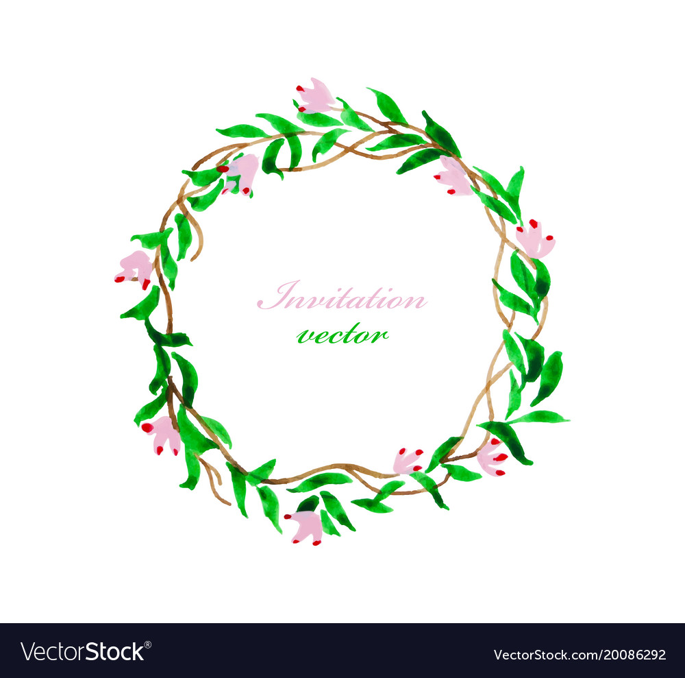 Invitation flora and card vector image