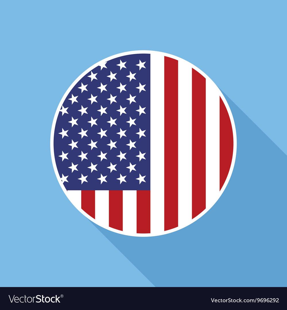 Usa National Flag Flat Icon Royalty Free Vector Image
