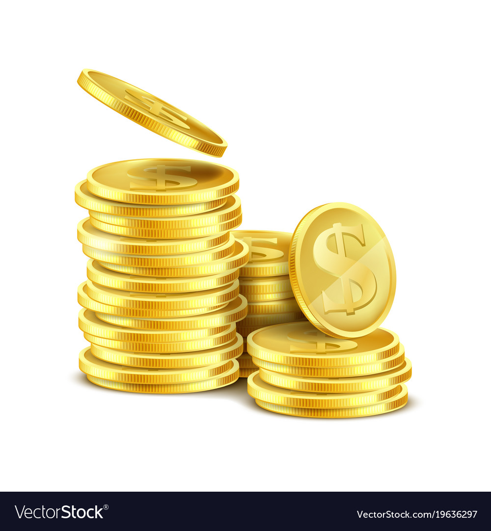 Gold Coins Royalty Free Vector Image