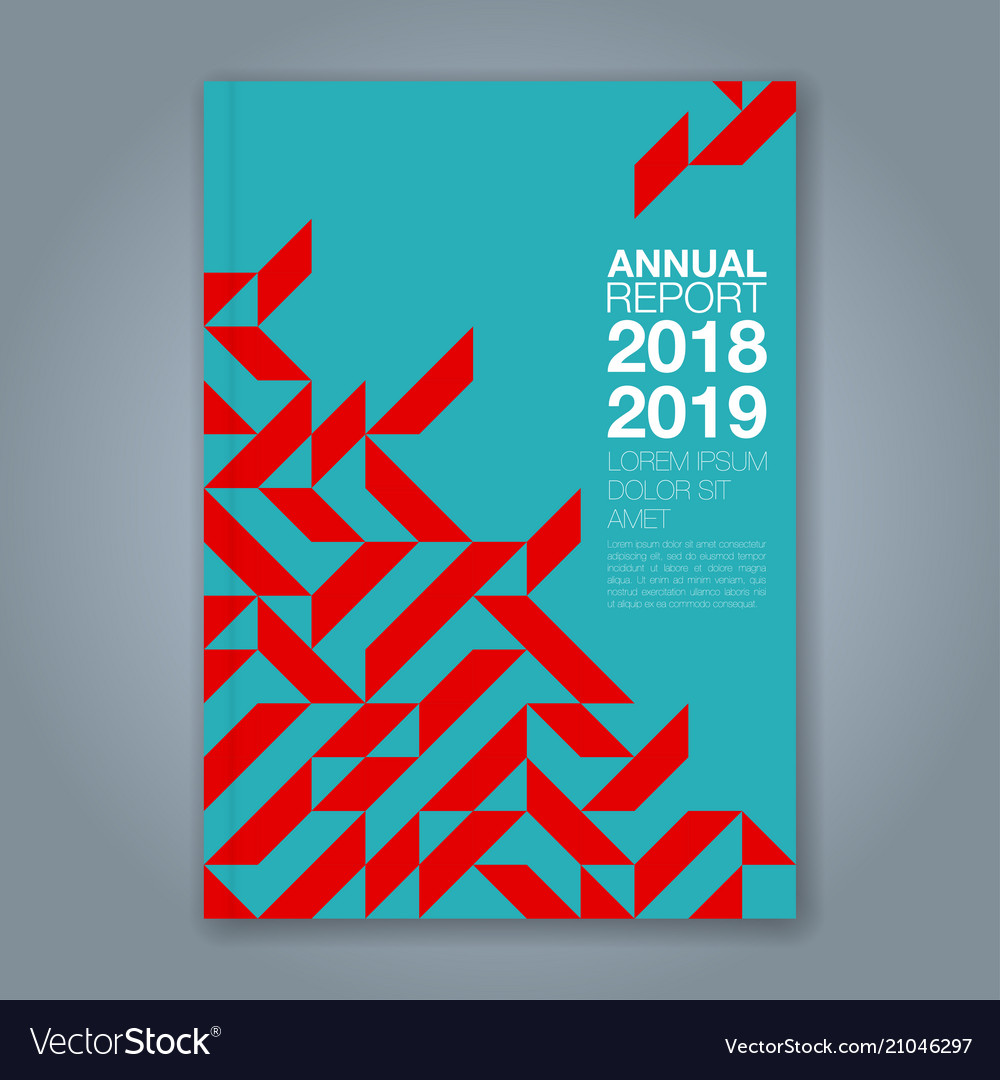 Cover annual report 852 vector image