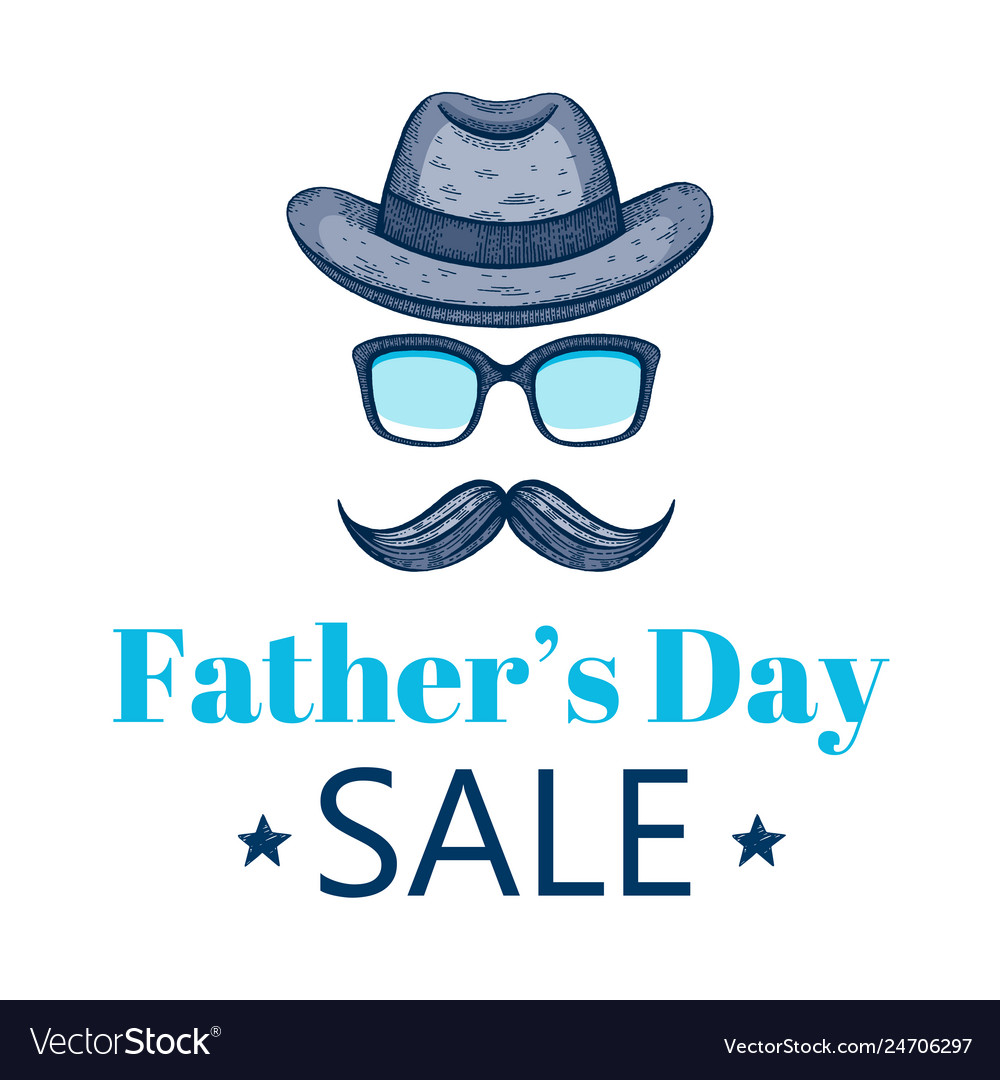 Happy father s day sale offer elegant poster with