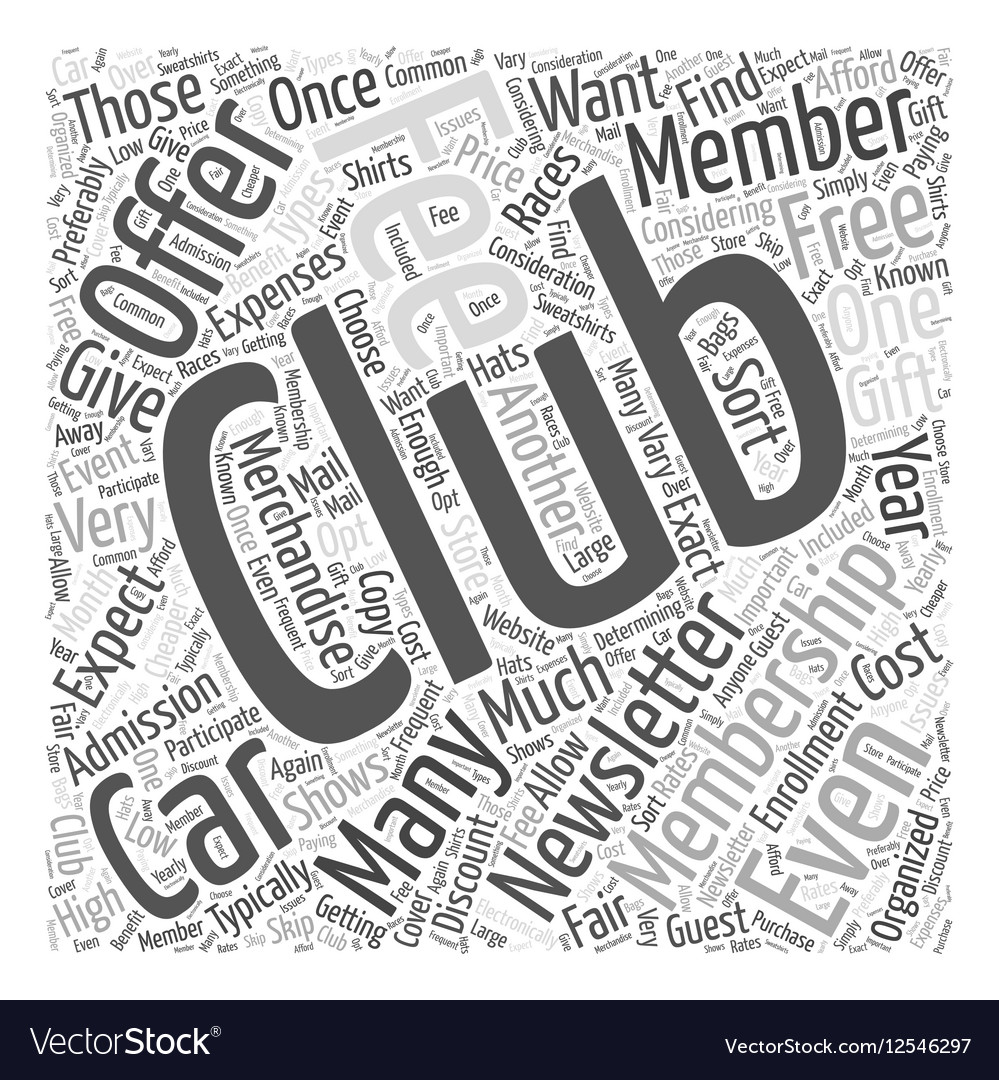 How Much Do Car Clubs Cost Word Cloud Concept