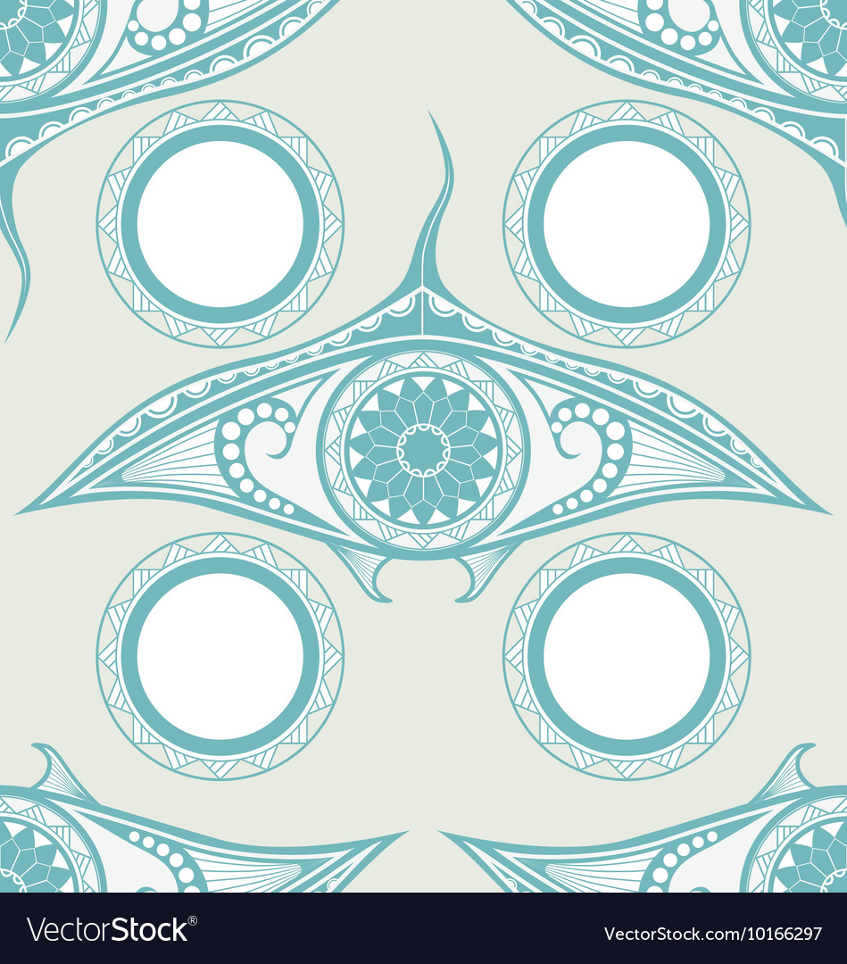 Maori style tattoo seamless pattern for decoration vector