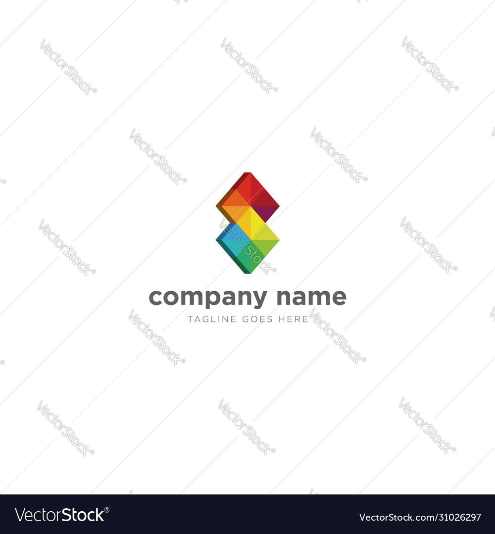 Modern colorful gradient square logo design