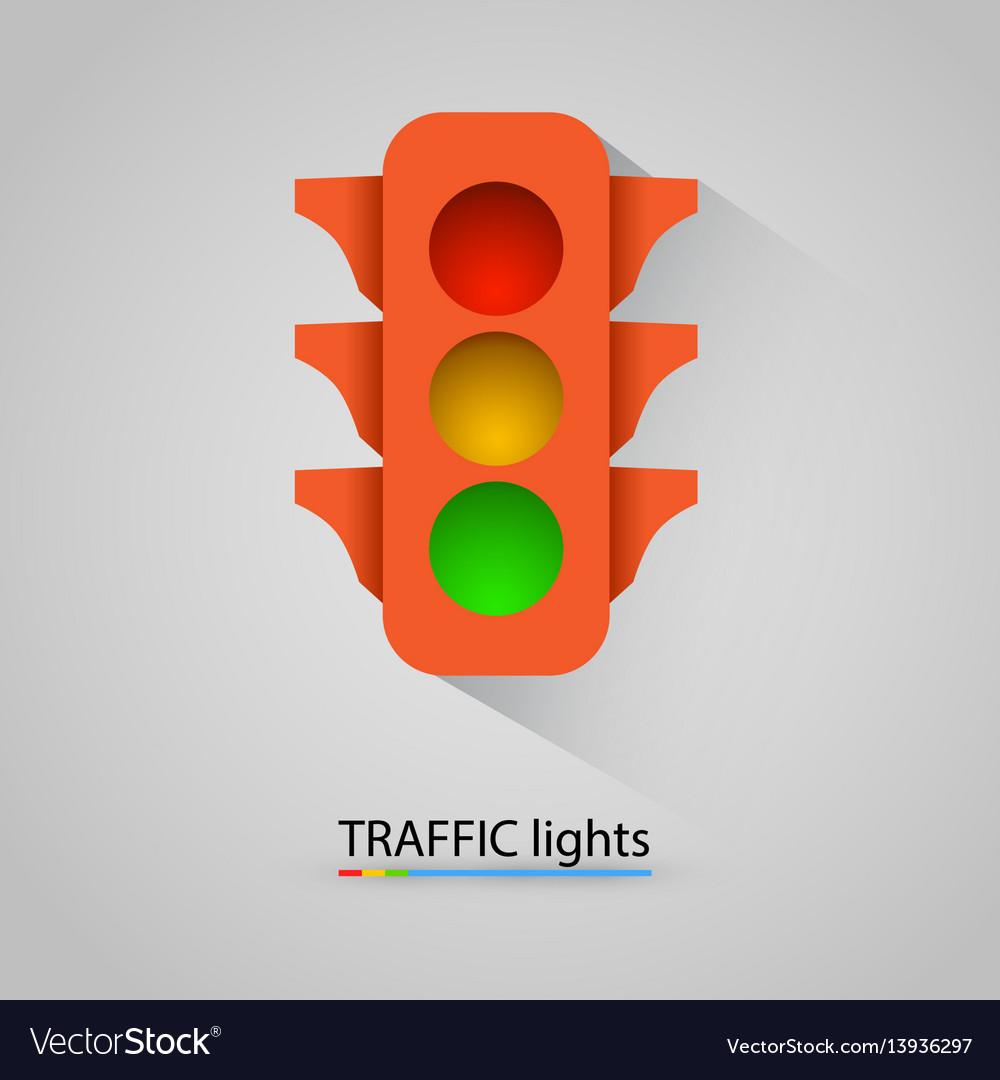 Orange traffic light modern background vector image