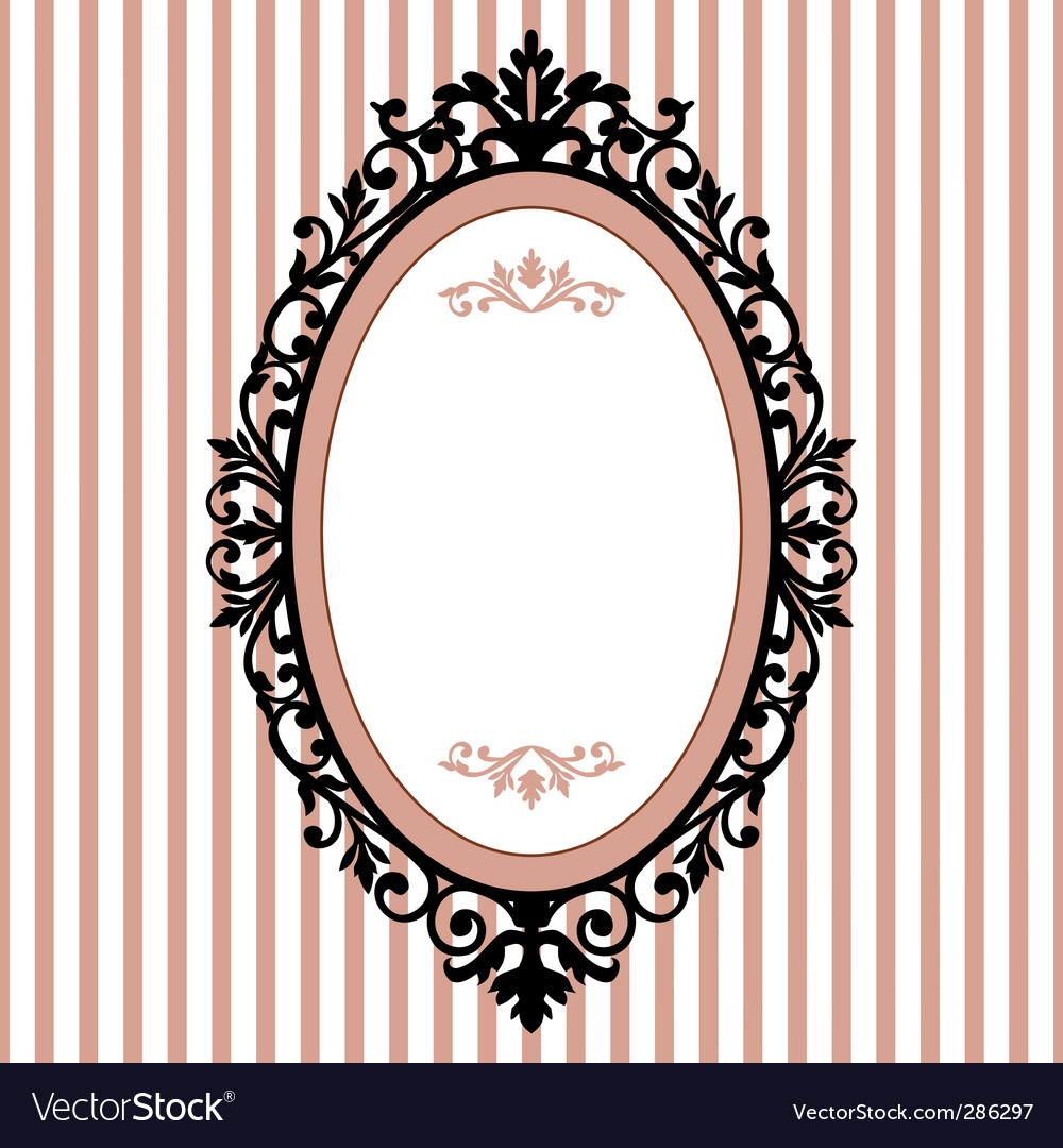 oval vintage frame royalty free vector image vectorstock. Black Bedroom Furniture Sets. Home Design Ideas