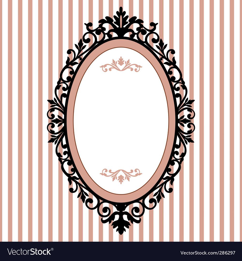 8987378d901e Oval vintage frame Royalty Free Vector Image - VectorStock